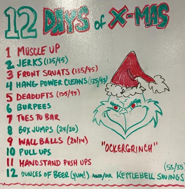 wod 12242015 12 days of christmas